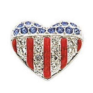 Swarovski American Heart Tack Pin
